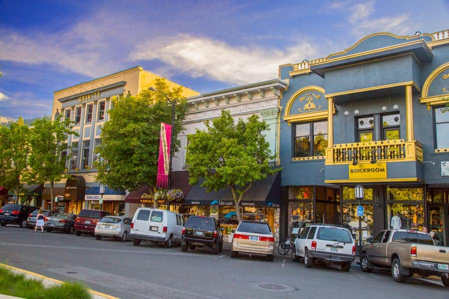 downtown Ashland Oregon